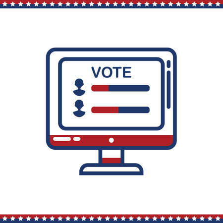 candidates: vote comparison of two candidates Illustration