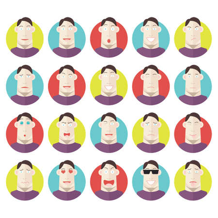 awkward: emoticons of man Illustration