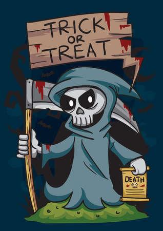 treat: trick or treat grim reaper