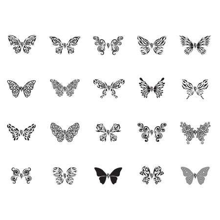 Tatouage de papillon jeu Banque d'images - 51920188