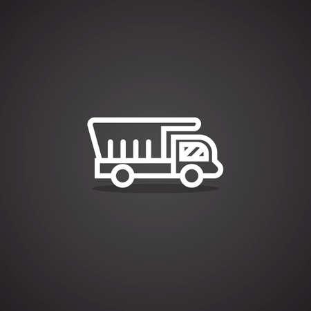 dumper: dumper truck Illustration