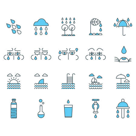 dewdrop: water related icons set