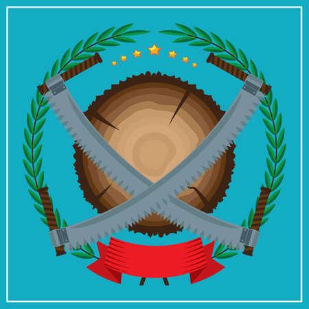 tree cutting: tree cutting emblem
