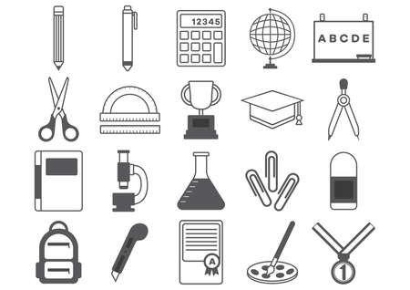 educational: educational icons collections Illustration