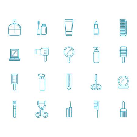set up: set of beauty icons