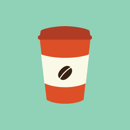 paper cup: coffee paper cup Illustration