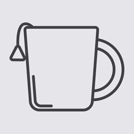 dipping: cup with tea bag