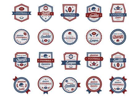 american football badge Vektorové ilustrace