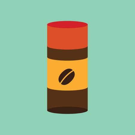 preparations: cylinder coffee bean container Illustration