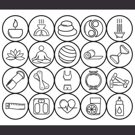 incense: assorted zen and exercise icon set