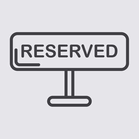 booked: reserved sign