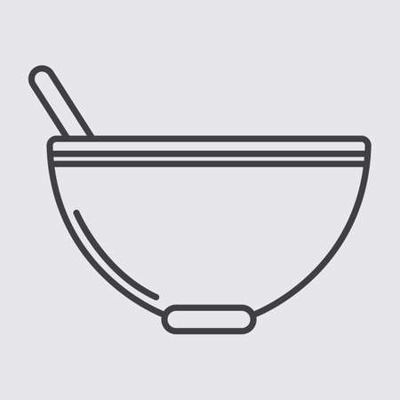 basic food: bowl and spoon
