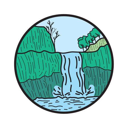 scenics: waterfall