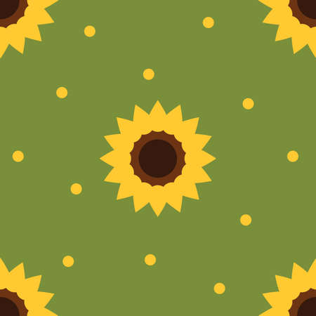 scented: sunflowers background Illustration