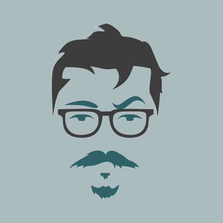 spec: man with mustache and beard