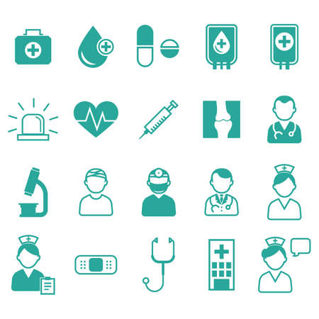 bubble people: doctor icons Illustration