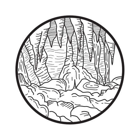 formation: cave formation Illustration