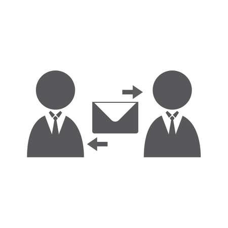 exchanging: businessmen exchanging mail
