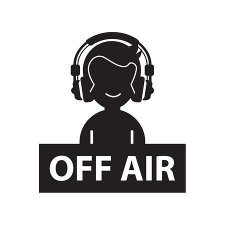 air: dj off air Illustration