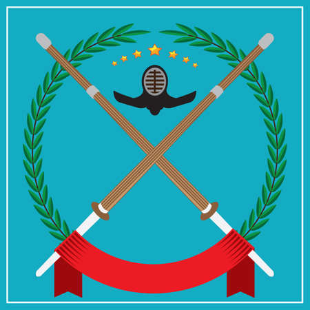 kendo: kendo emblem Illustration