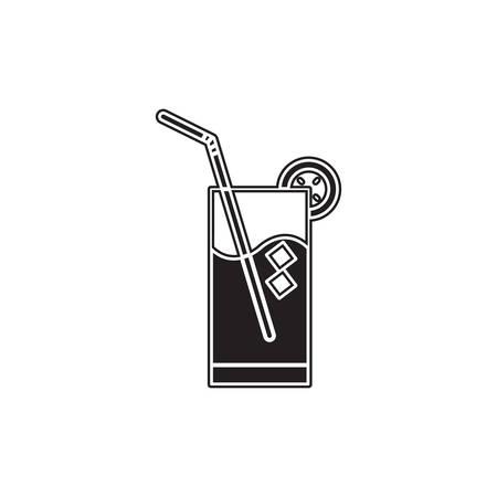 straw: glass of drink with a straw