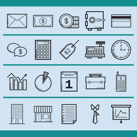 mobilephones: business icons Illustration
