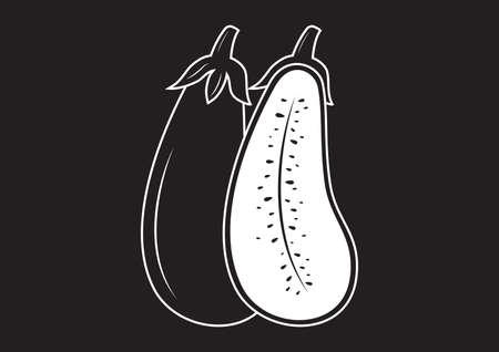 aubergine: brinjal Illustration