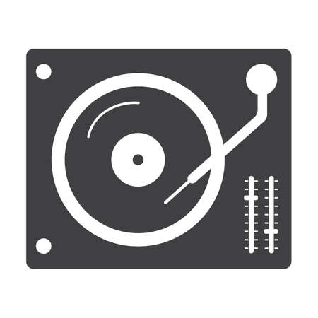 turntable: dj turntable Illustration
