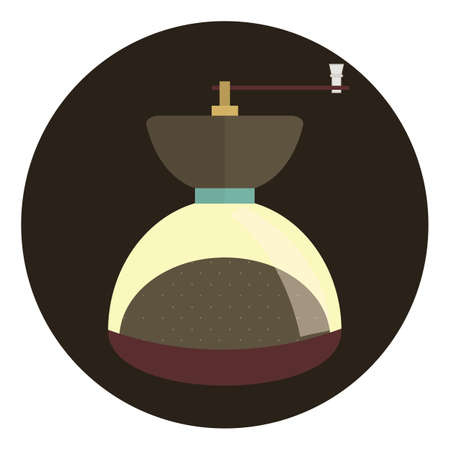 coffee grinder: coffee grinder Illustration