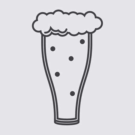 froth: beer glass with froth