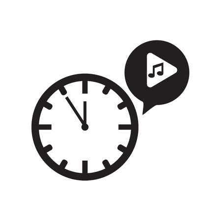 tune: clock with a musical note