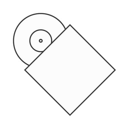 record cover: vinyl record in cover