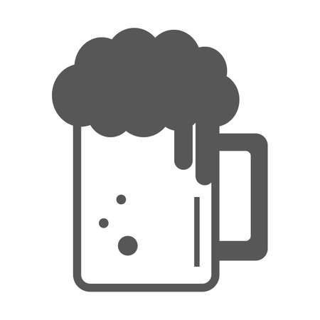 froth: beer mug with froth Illustration