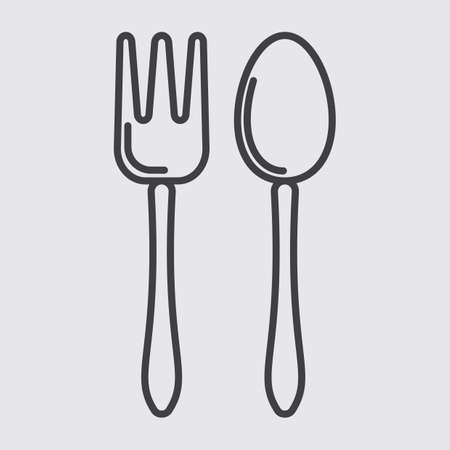 basic food: spoon and fork