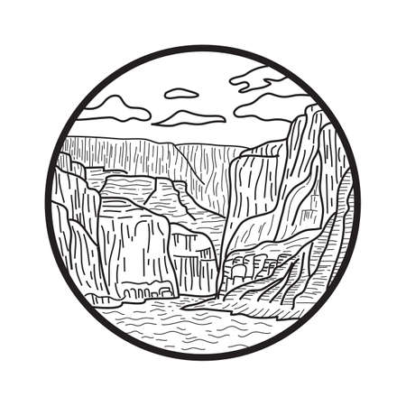 canyon: canyon scenery Illustration