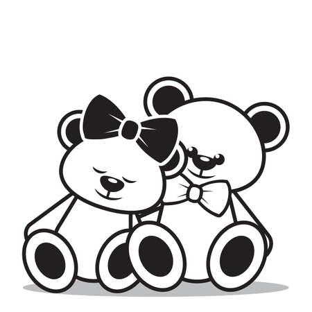 teddy bears: teddy bears sitting together