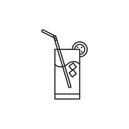 icecubes: glass of drink with a straw