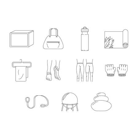 assorted: assorted wellness icons set