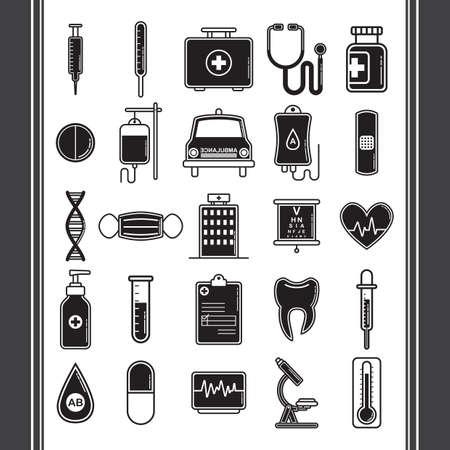 Iconos médico Foto de archivo - 51723117