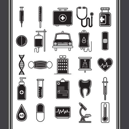 doctor icons Illustration