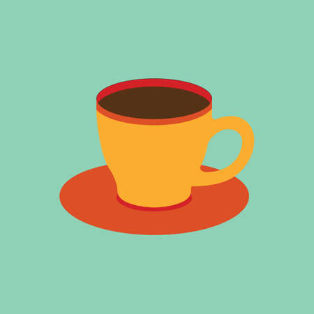 saucer: coffee cup with saucer Illustration