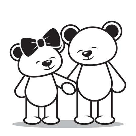 teddy bears: teddy bears in love