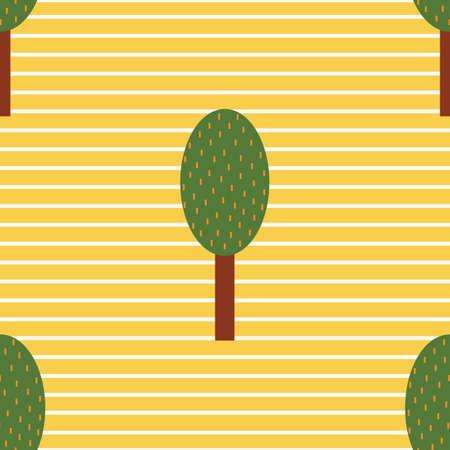 stripes: trees on stripes background