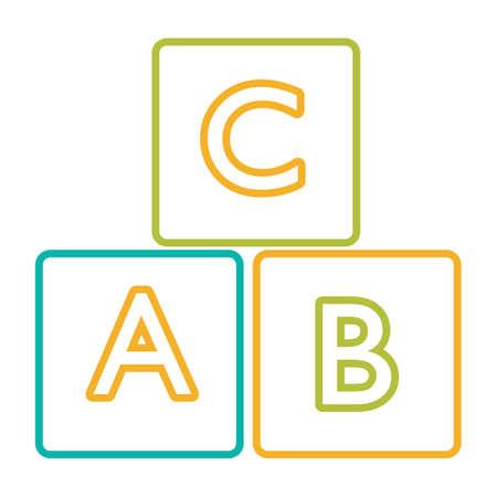 alphabet blocks: alphabet blocks Illustration