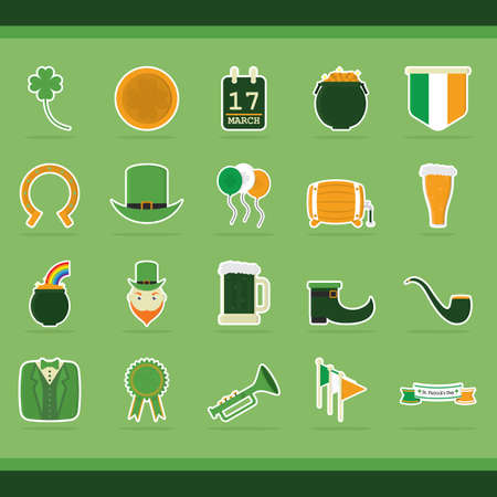 st patricks day: set of st. patricks day icons Illustration
