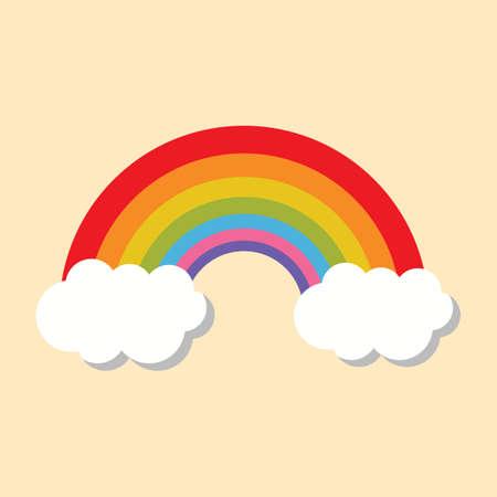 rainbow: rainbow on clouds
