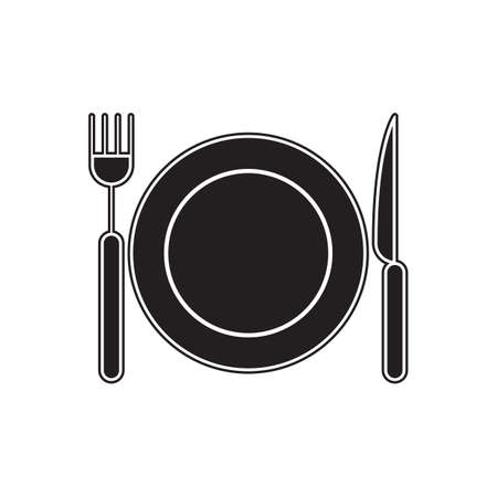 dine: plate, fork and knife