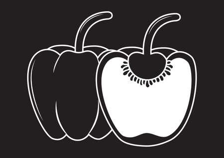 capsicum: capsicum Illustration