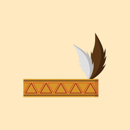 cintillos: banda para la cabeza del nativo americano