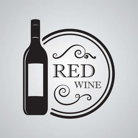 red wine: red wine label